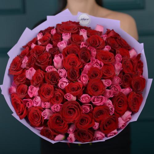 """101 роза букет """"Ягодный микс"""""""