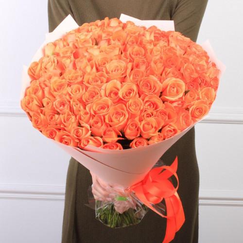 Букет из 101 мандариновая роза