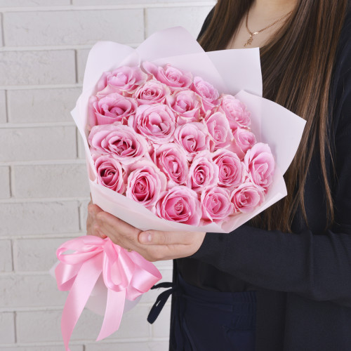 21 Розовая (Роза Premium 40см)