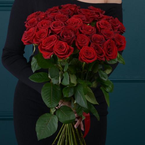 35 красных роз (Роза Premium 60см)