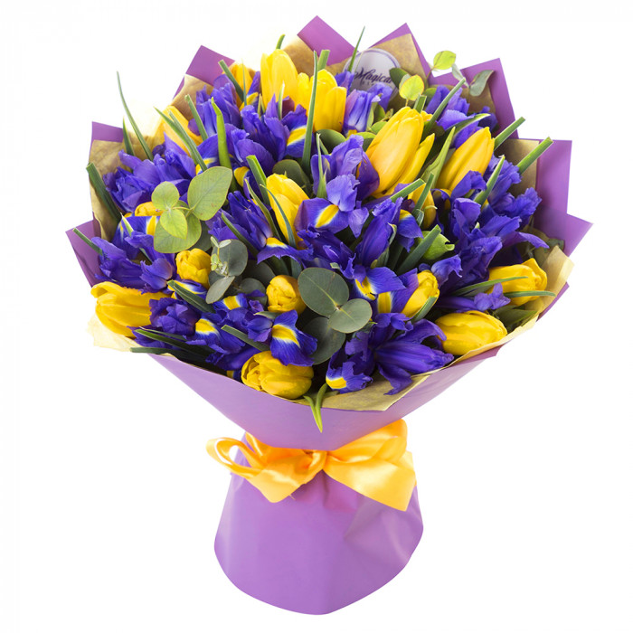 Тюльпаны с ирисом