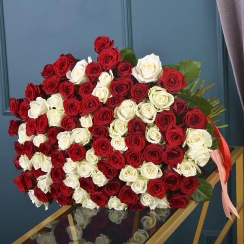 Букет Микс из 101 розы(Premium 60см)