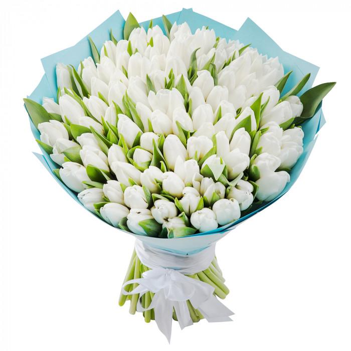 Монобукет из 101 тюльпанов