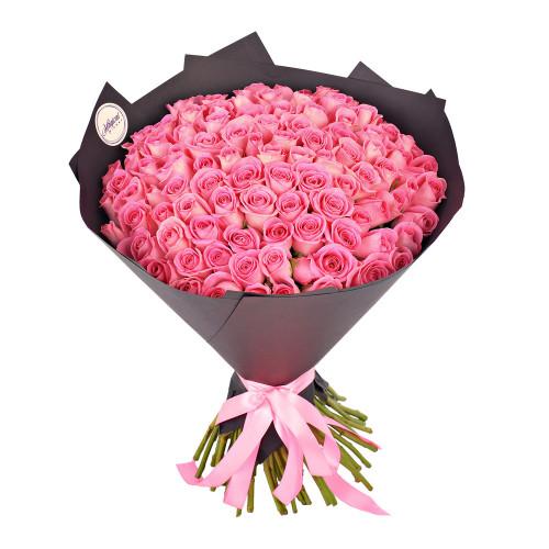 Букет из 101 розовой розы
