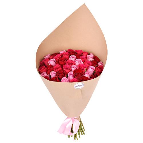 Букет из 51 розы ягодный микс